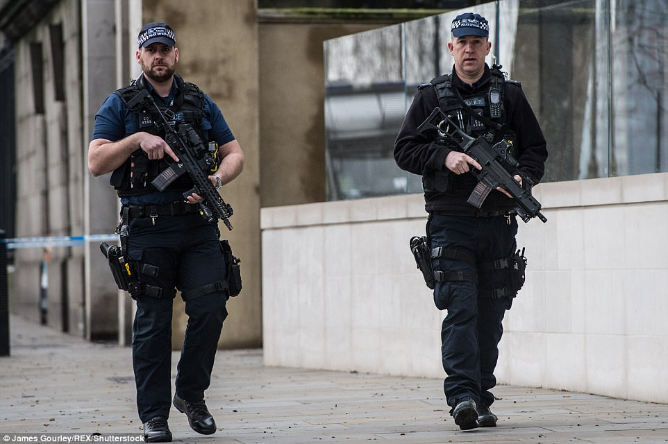 London Terror Police double number of armed officers  Daily Mail Online