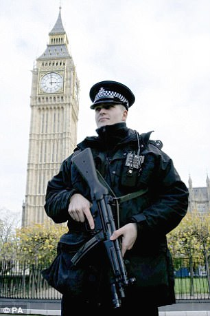 MPs complained in 2014 that armed police being deployed at the Parliamentary gates because they created a bad 'atmosphere'