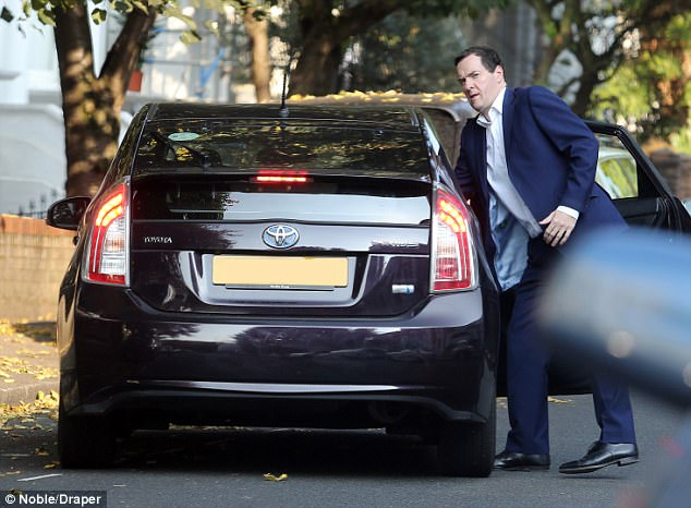 When Boris Johnson moved to regulate Uber in 2015, accusing them of being 'bumptious' and breaking taxi licensing laws 'in lots of minor ways', he was bombarded with angry messages from Downing Street. George Osborne (pictured getting out of an Uber cab) and David Cameron are believed to have sent forthright texts to the Mayor's mobile phone