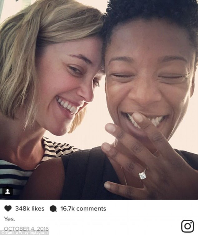 Married! Orange Is The New Black's Samira Wiley wed writer Lauren Morelli in Palm Springs on Saturday, according to People