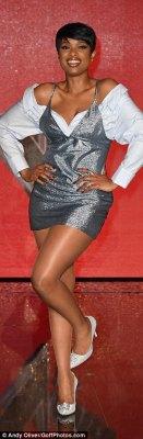 Legs eleven: Jennifer showed off her sleek legs in the skimpy outfit