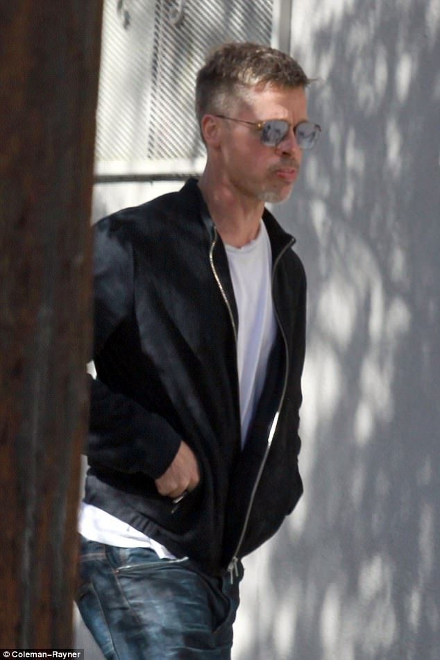 Thin: The 53-year-old actor, who has often been described as the 'sexiest man alive', looked drawn and downcast