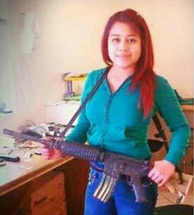 Last year, one female killer known as 'La Peque' (pictured) claimed to have had intercourse with beheaded corpses and drank their blood