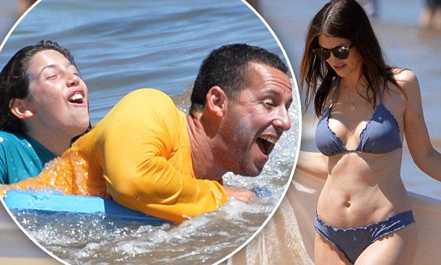 Adam Sandler Enjoys Hawaii With Daughters And Bikini Wife