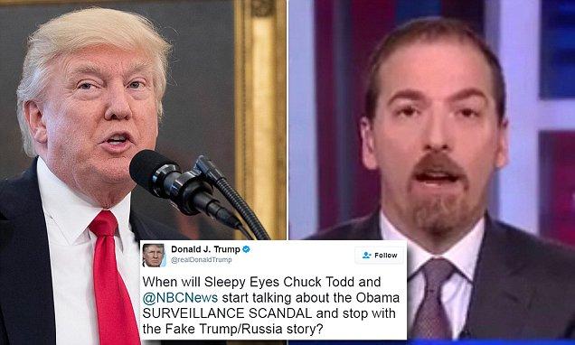 Trump attacks 'sleep-eyed Chuck Todd' in furious tweet