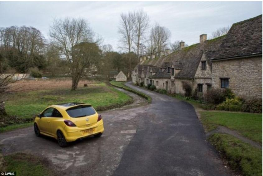 When photos of his car went viral, Mr Maddox, who moved to Bibury 15 years ago after his wife passed away, said: 'I never intended to cause a problem with the yellow one'