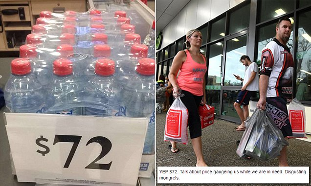 Target Australia charge $72 for water after Cyclone Debbie