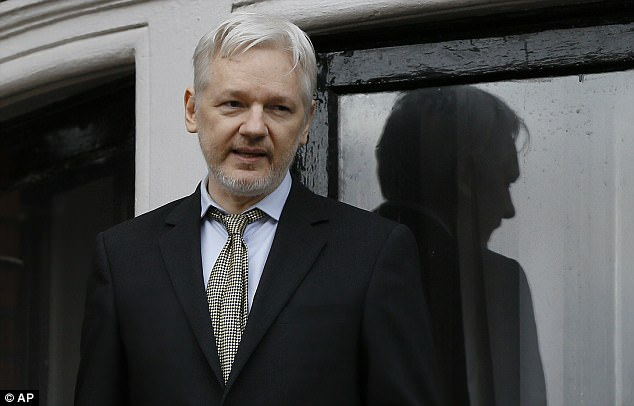 Assange (pictured) has been holed up in the tiny embassy for nearly five years, protected by Ecuador's current leftist government from extradition to Sweden over rape allegations