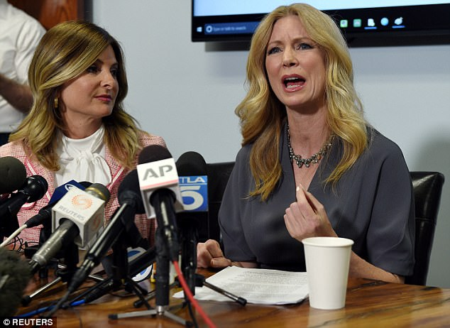 Wendy Walsh (right with attorney Lisa Bloom), a regular on his show, along with Andrea Tantaros, a former Fox News host, also accused the 67-year-old of inappropriate behavior