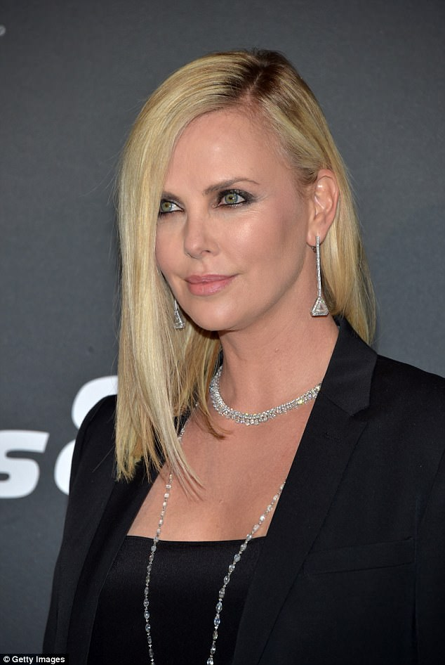 Charlize Theron In Suit Paris Premiere Of Fast Amp Furious 8
