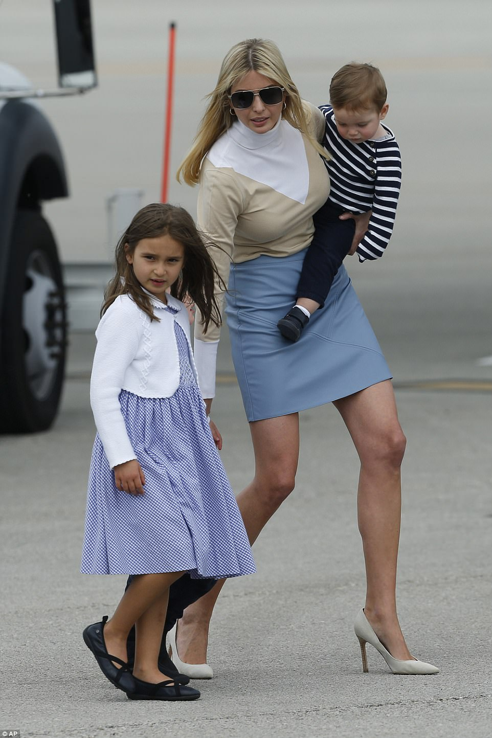 Ivanka and her family are also in Florida for the weekend, flying down on Air Force One as well