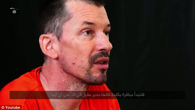 The University of London graduate was arrested and charged with kidnapping two journalists - Mr Cantlie (pictured) and Dutch reporter Jeroen Oerlemans - in 2012 but was released after the trial collapsed when neither of the prosecution's witnesses were able to give evidence
