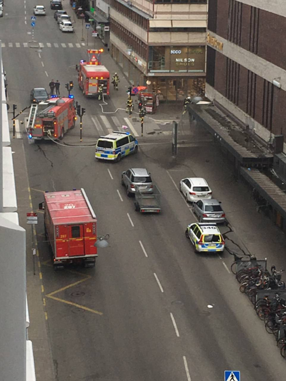 Above are the scenes in the city currently, where dozens of emergency services vehicles are tending to injured people