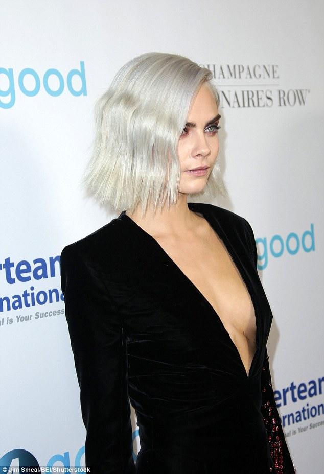 Cara Delevingne Dons A Low Cut Blazer At LA Gala Daily