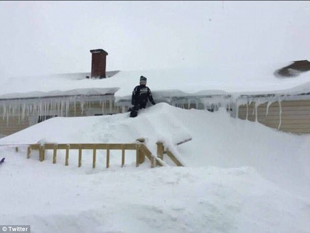 No signs of spring here: Gander, Newfoundland was battered by two Nor'easters this week