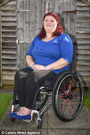 wheelchair nhs solid cherry wood dining table and chairs birmingham woman is 1st frontline nurse in | daily mail online