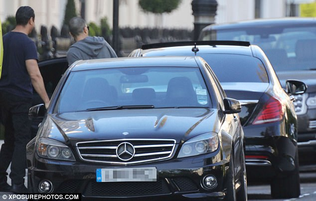 In touch: The Qatari businessman - said to be worth over £800million - was seen arriving at the London townhouse he shared with the pop superstar over the weekend as news of their separation became public