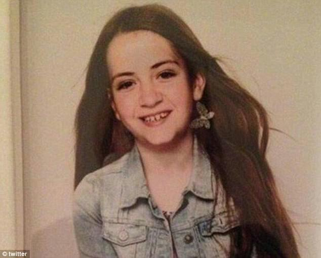 The 11-year-old's grief stricken family launched a desperate social media appeal to find her after the atrocity - but tonight confirmed she was killed as she walked home