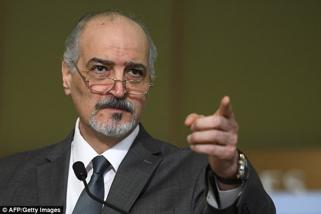 The extraordinary claim was made by Bashar al-Jaafari, who accused the Israeli government of 'adding fuel to the fire'