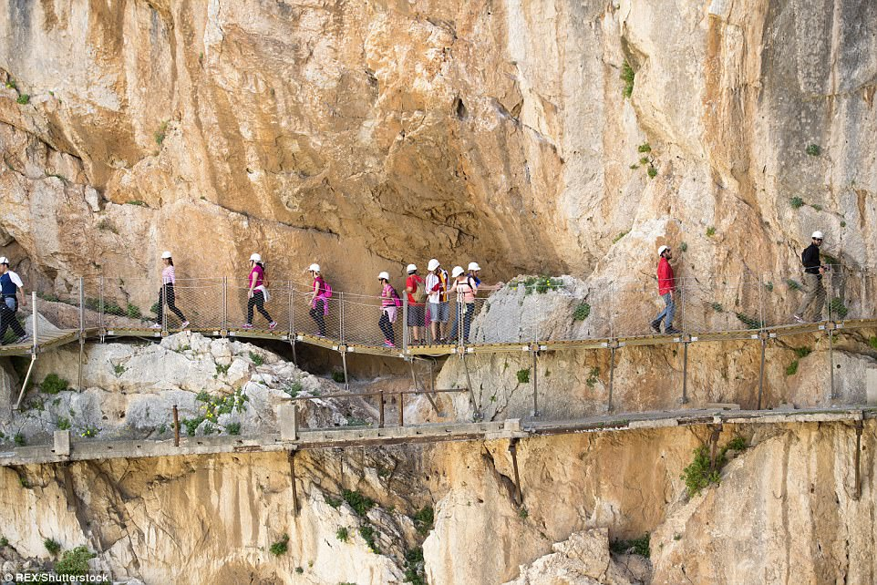 The path enables tourists to get up close and personal with a dramatic cliff