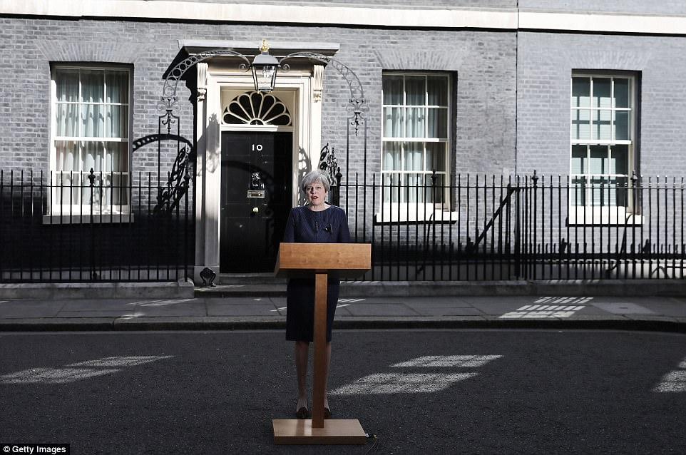 Mrs May said weakness in Westminster would weaken her hand in the Brexit negotiations - knowing an election against Jeremy Corbyn could hand her a huge Commons majority