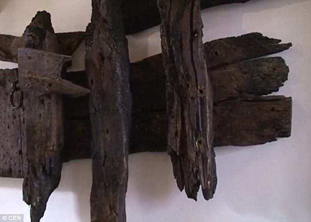 Rooswijk artefacts will be among the first to be scanned by the revamped facility, in a collaboration between Historic England and Rijksdienst voor het Cultureel Erfgoed, the Netherlands' cultural heritage agency. Pictured, wood recovered from the wreck