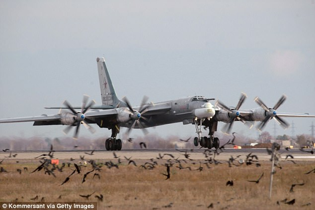 On Thursday night, the Russian military sent a pair of Tu-95 Bear bombers (like the one seen above) towards Alaska. It was the fourth night in a week that the Russians have sent aircraft close to Alaska