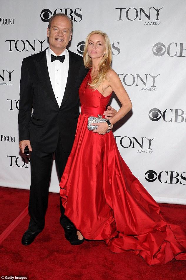 Divorced: She's the ex-wife of Frasier star Kelsey Grammer (pictured June 2010)