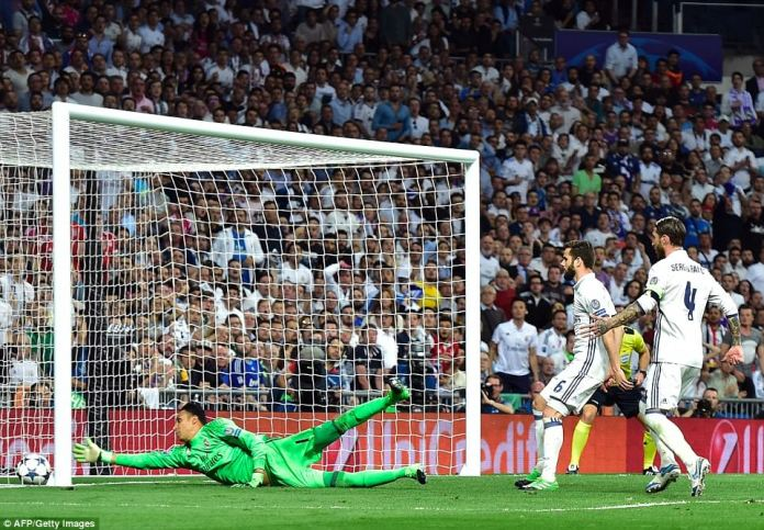 Kaylor Navas was left stranded by Sergio Ramos' own goal that took the game into an additional 30 minutes