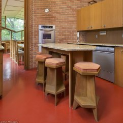 Brown Accent Chairs Fold Up Minnesota Home Built By Frank Lloyd Wright Is For Sale | Daily Mail Online