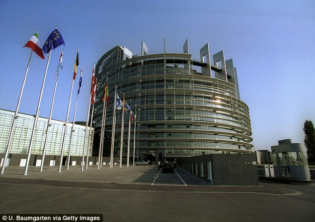 The manifesto is expected to commit the Conservatives to ending EU free movement and pulling out of both the single market  (pictured, the European Parliament)
