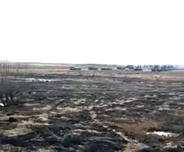 Another clip highlights military helicopter movements towards the North Korean border and manoeuvres across rough terrain by army combat vehicles