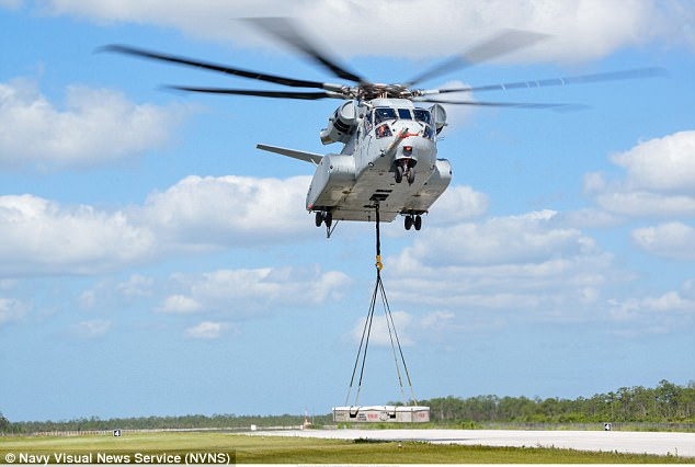 The Department of Defense earlier this month approved a Navy request to begin production on the CH-53K King Stallion (pictured)