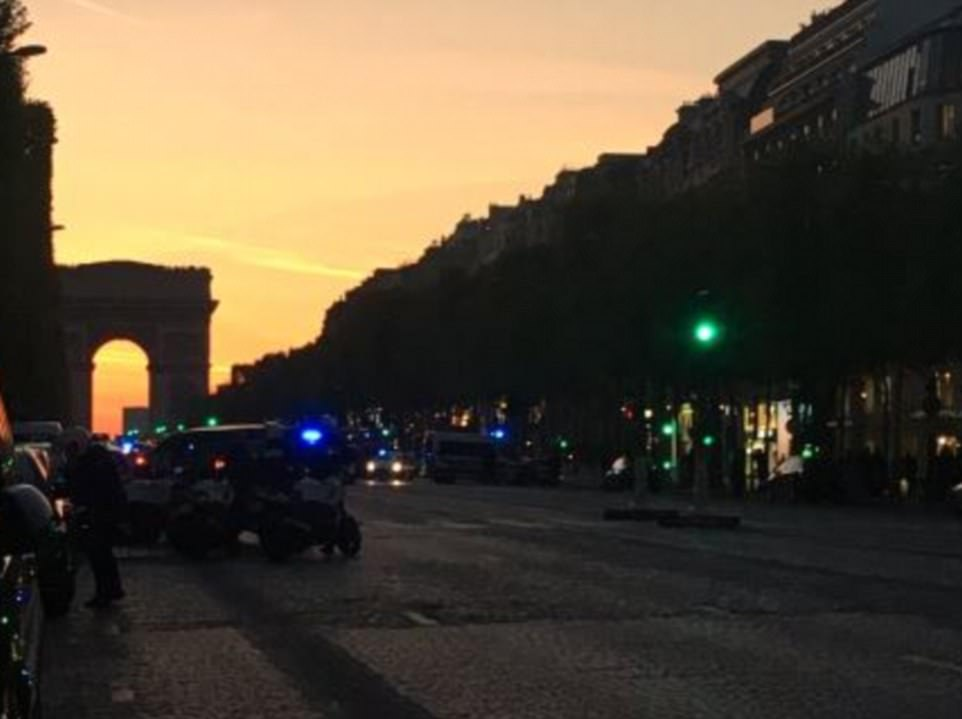 Reports have suggested that two police officers have been killed on the Champs Elysees in central Paris (pictured) this evening