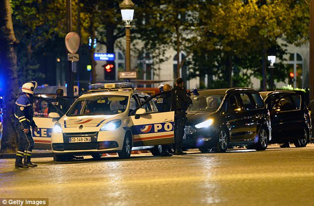 One police officer was shot dead and two more seriously injured by a gunman carrying a Kalashnikov in Paris this evening
