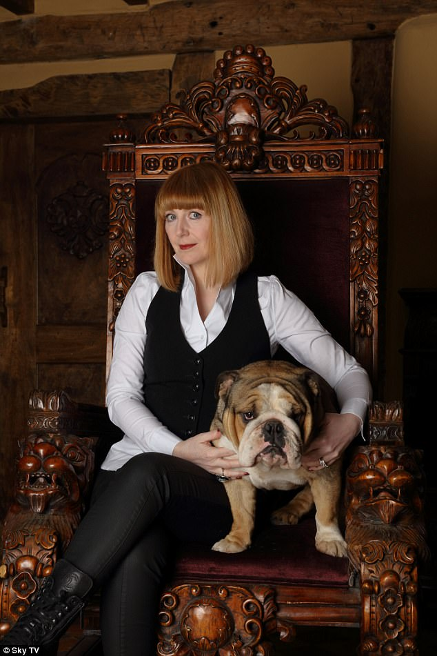 Yvette Fielding says the chilling footage of the ghostly figure is 'ground breaking'