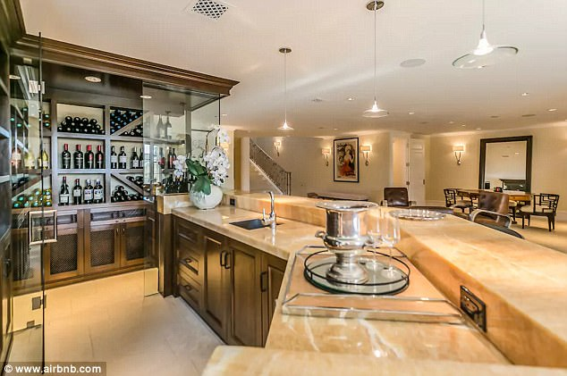 Berry nice! The home also has its own wine bar and temperature controlled storage
