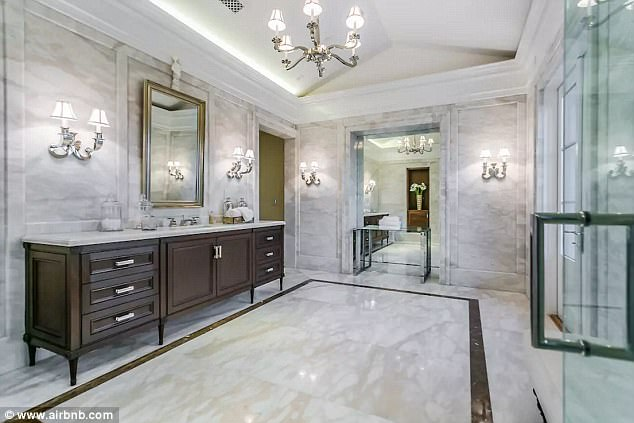 Washing in luxury: 7.5 bathrooms offer plenty of space to clean up or unwind