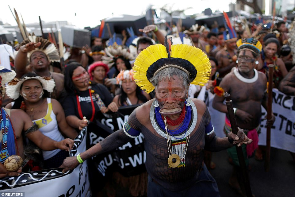 The protest took place in what's dubbed Indigenous Week, a series of activities in the capital highlighting the tribes' many problems as they attempt to coexist with ever an ever expanding agricultural industry