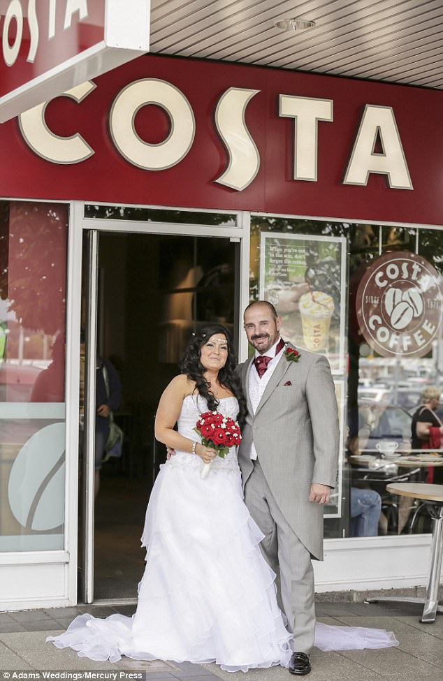 Welsh Couple Have A COSTA Themed Wedding Daily Mail Online
