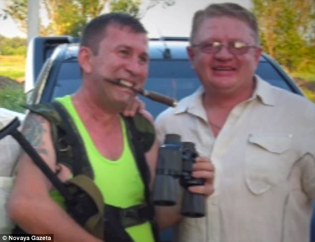 Serhiy Tiunov (right) says his friend Sergey Dubinsky (left), a retired Russian colonel, has admitted to moving a missile launcher into position before it shot down MH17