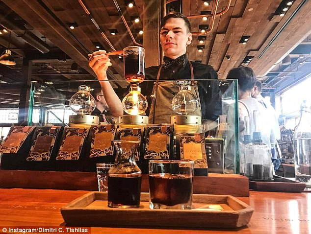 Experience: The chain already has a similar location in Seattle (pictured) where customers can pick between various brewing methods after a chat with a 'coffee specialist'