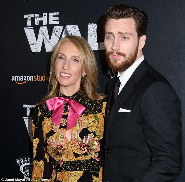 Aaron Taylor-Johnson at The Wall premiere with wife Sam ...