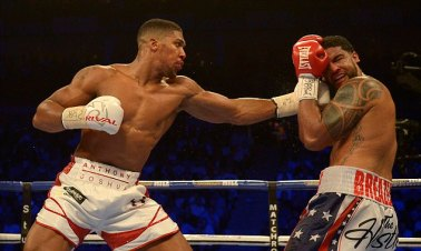 Anthony takes on Dominic Breazele in a fight at The O2 Arena in London in June last year