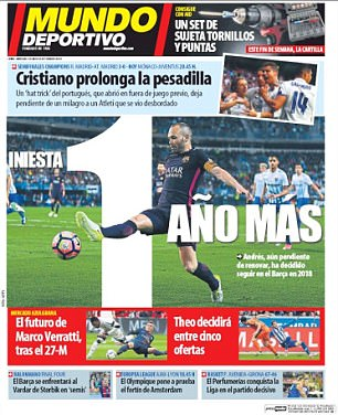 Mundo Deportivo said 'Cristiano prolongs the nightmare'