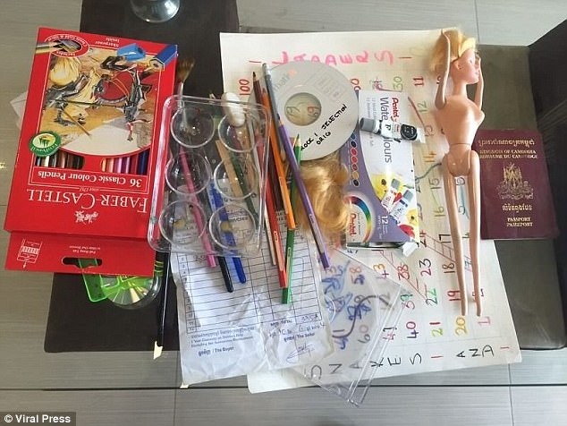 Police found children's crayons, a passport and a doll during their investigation into Cressy