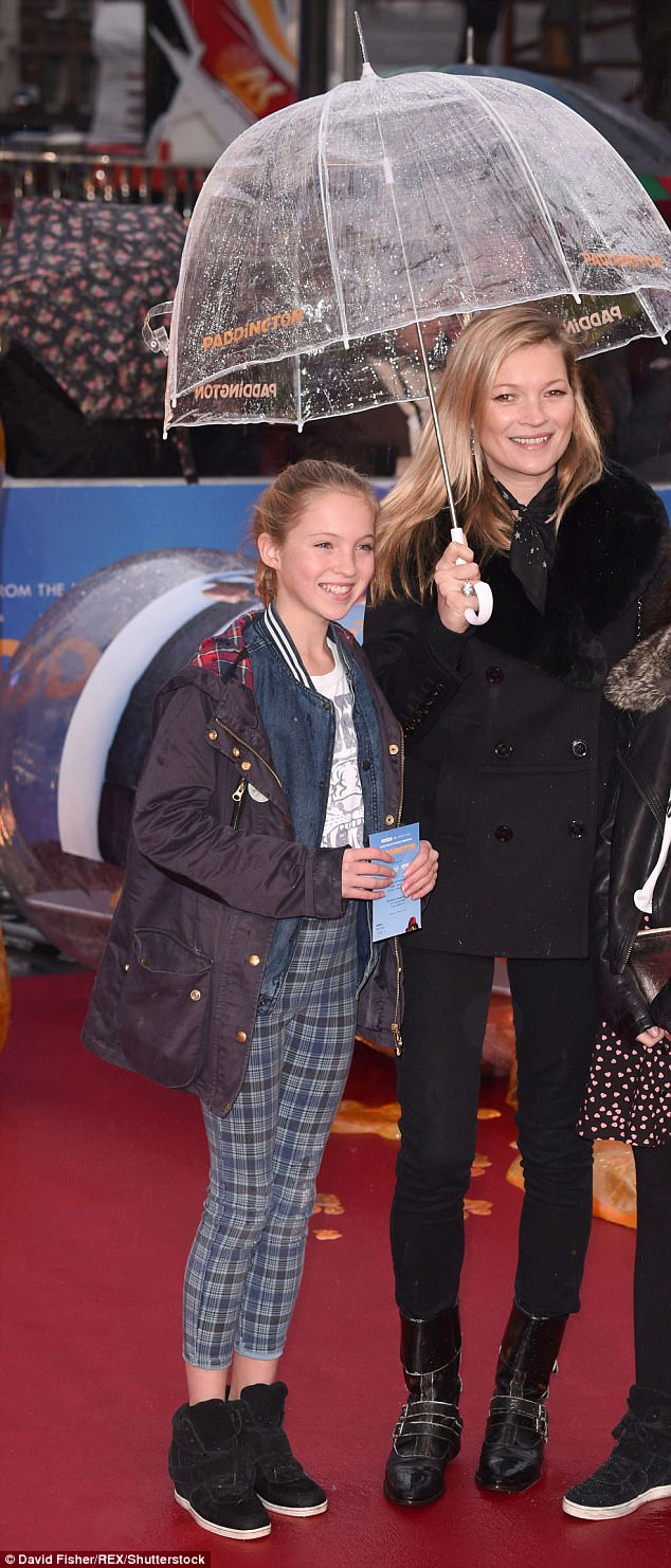 Rare appearance: Lila has rarely appeared with her famous parents at public events, aside from a trip to the premiere of family film Paddington back in 2014 with her mother