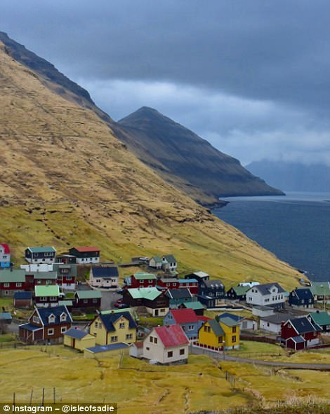 Many of the communities in the Faroe islands feature a rainbow of colourful timber houses