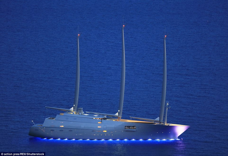 Russian Oligarchs New 360 Million Yacht Moored Overnight