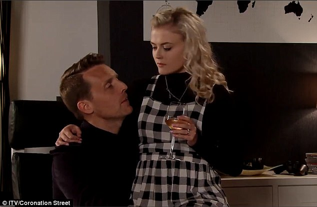 Abuser: Her boyfriend Nathan asked Bethany - played by Lucy Fallon - whether Ian was 'good looking enough for one of our get-togethers?'